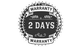 icono de la insignia del sello del diseño del ejemplo de la garantía de 2 días stock de ilustración