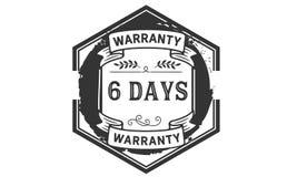 icono de la insignia del sello del diseño del ejemplo de la garantía de 6 días libre illustration