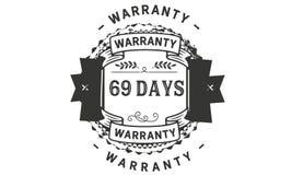 icono de la insignia del sello del diseño del ejemplo de la garantía de 69 días libre illustration