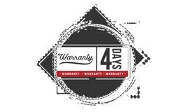 icono de la insignia del sello del diseño del ejemplo de la garantía de 4 días libre illustration