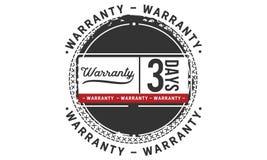 icono de la insignia del sello del diseño del ejemplo de la garantía de 3 días libre illustration