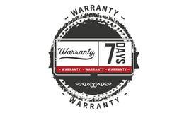 icono de la insignia del sello del diseño del ejemplo de la garantía de 7 días libre illustration
