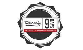 icono de la insignia del sello del diseño del ejemplo de la garantía de 9 días stock de ilustración