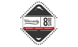 icono de la insignia del sello del diseño del ejemplo de la garantía de 8 días libre illustration