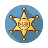 Icono de la insignia del sheriff Imagen de archivo