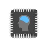 Icono de la inteligencia artificial Foto de archivo libre de regalías