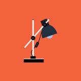Icono de la lámpara de mesa del vector, elemento del diseño Imágenes de archivo libres de regalías