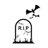 Icono de la lápida mortuaria Fotos de archivo
