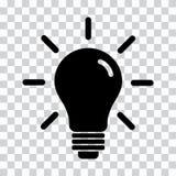 Icono de la l?mpara Silueta negra Ilustraci?n del vector ilustración del vector