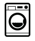 Icono de la lavadora Imagenes de archivo