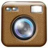 Icono de la lente de cámara stock de ilustración