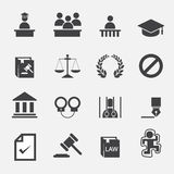 Icono de la ley Fotografía de archivo libre de regalías