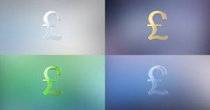 Icono de la libra 3d de Gran Bretaña Foto de archivo libre de regalías