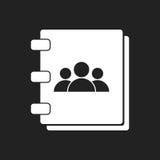 Icono de la libreta de direcciones Foto de archivo