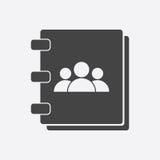Icono de la libreta de direcciones Imagen de archivo libre de regalías