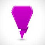 Icono de la lila de la marca de exclamación Imágenes de archivo libres de regalías