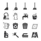 Icono de la limpieza imagen de archivo