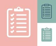 Icono de la lista de control de la encuesta Lista de control de la encuesta plana ilustración del vector