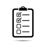 Icono de la lista de verificación Imagen de archivo libre de regalías