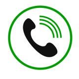 Icono de la llamada de teléfono Fotos de archivo libres de regalías