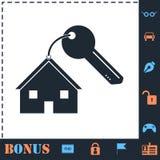 Icono de la llave de la casa completamente ilustración del vector