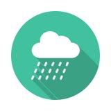 Icono de la lluvia Imagenes de archivo