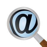 Icono de la lupa para una búsqueda del web Imágenes de archivo libres de regalías