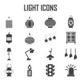Icono de la luz y de la linterna del vector Ilustración del Vector
