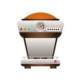 Icono de la máquina del café Diseño del tiempo del café Gráfico de vector ilustración del vector