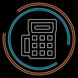 Icono de la máquina de la tarjeta de crédito - terminal del pago libre illustration