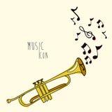 Icono de la música Fotografía de archivo libre de regalías