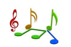 Icono de la música Imagenes de archivo