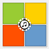 Icono de la música Fotografía de archivo