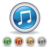 icono de la música del vector Foto de archivo libre de regalías