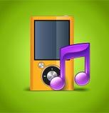 Icono de la música con el jugador stock de ilustración