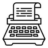 Icono de la m?quina de escribir, estilo del esquema libre illustration