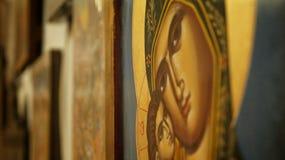 Icono de la madre de dios Fotos de archivo libres de regalías