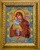 Icono de la madre más santa de dios Fotos de archivo
