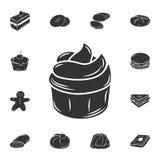 Icono de la magdalena Ejemplo simple del elemento Diseño del símbolo de la magdalena del sistema de la colección de la panadería  ilustración del vector