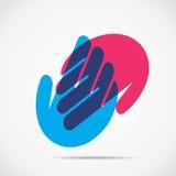 Icono de la mano amiga Imagen de archivo