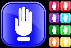 Icono de la mano de la parada Foto de archivo