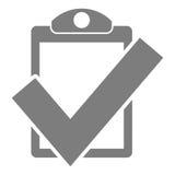 Icono de la marca de cotejo Fotos de archivo libres de regalías