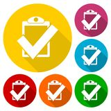 Icono de la marca de cotejo ilustración del vector
