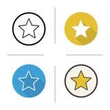 Icono de la marca de la estrella Fotos de archivo