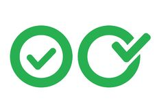 Icono de la marca de verificación libre illustration