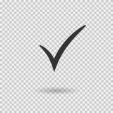 Icono de la marca de verificación Botón de la marca de cotejo del vector Símbolo de la señal stock de ilustración