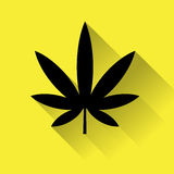 Icono de la marijuana del cáñamo Imagen de archivo