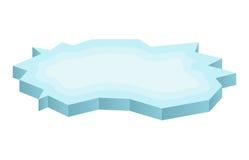 Icono de la masa de hielo flotante de hielo, símbolo, diseño Ejemplo del vector del invierno en el fondo blanco Fotografía de archivo libre de regalías