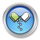 Icono de la medicación Imagenes de archivo