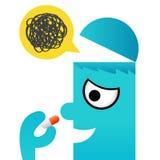 Icono de la medicina, vector Imágenes de archivo libres de regalías
